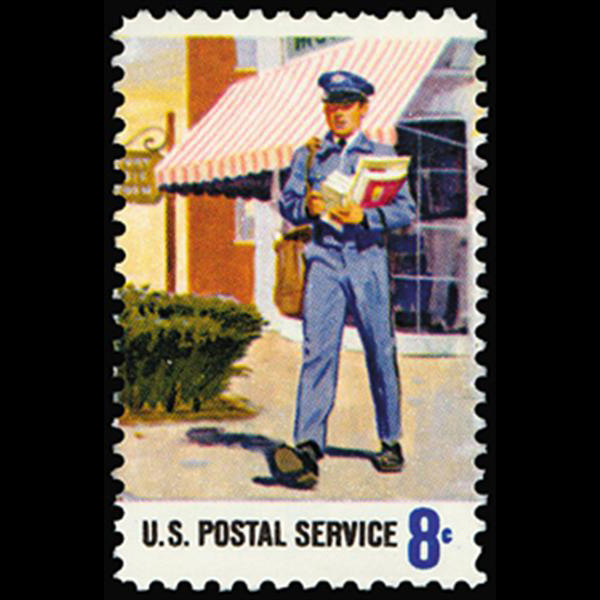 1973 8c Letter Carrier Mint Single