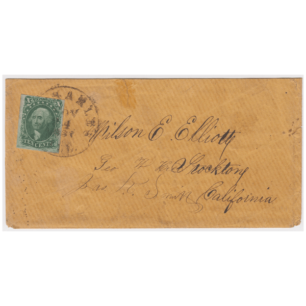 1855 10c Washington, Type II on Cover