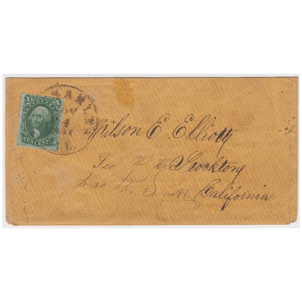 1855 10c Washington, Type II on Cover
