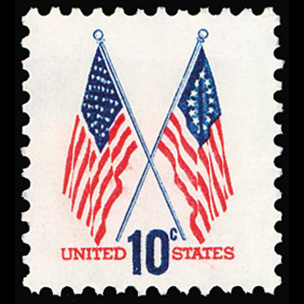1973 10c Crossed Flags Mint Single