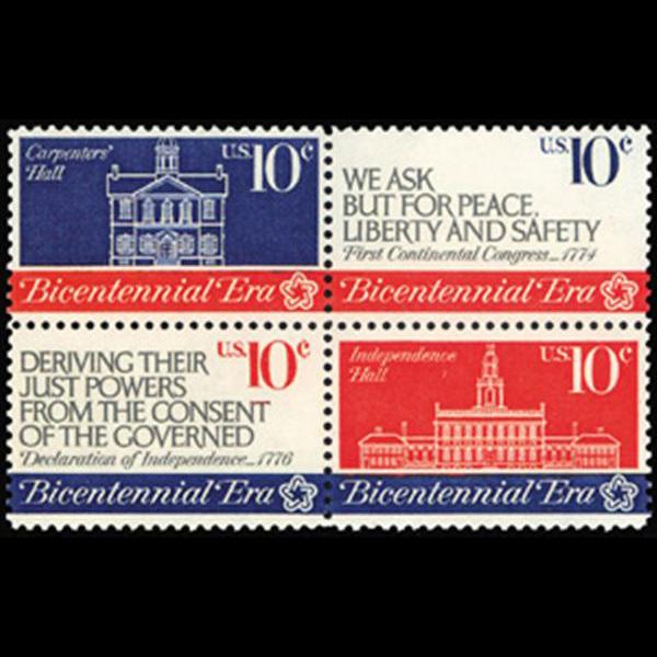 1974 10c Continental Congress Mint Block