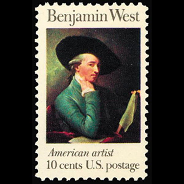 1975 10c Benjamin West Mint Single