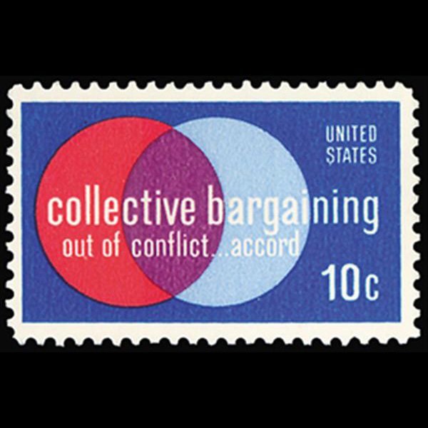 1975 10c Collective Barganing Mint Single