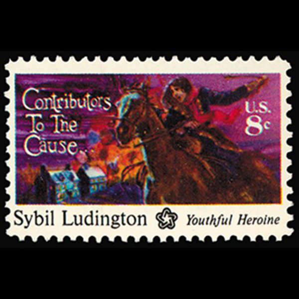 1975 10c Sybil Ludington Mint Single