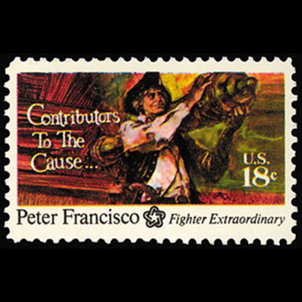 1975 18c Peter Francisco Mint Single