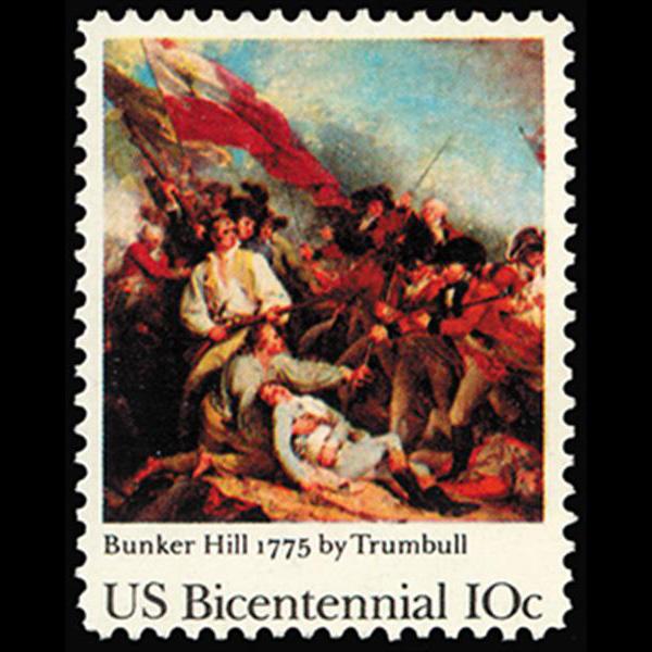 1975 10c Battle of Bunker Hill Mint Single