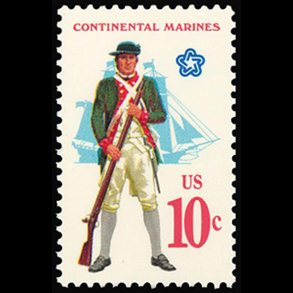1975 10c Continental Marines Mint Single