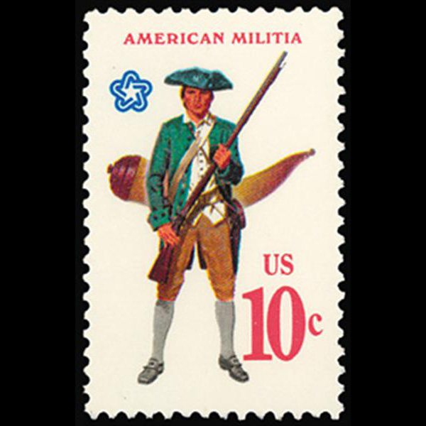 1975 10c American Militia Mint Single