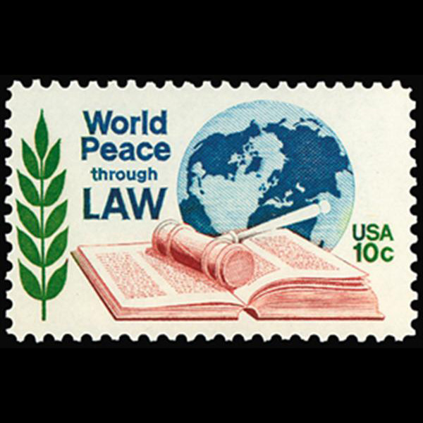 1975 10c World Peace Through Law Mint Single