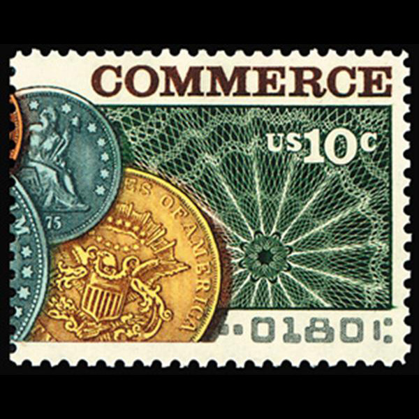1975 10c Commerce Mint Single