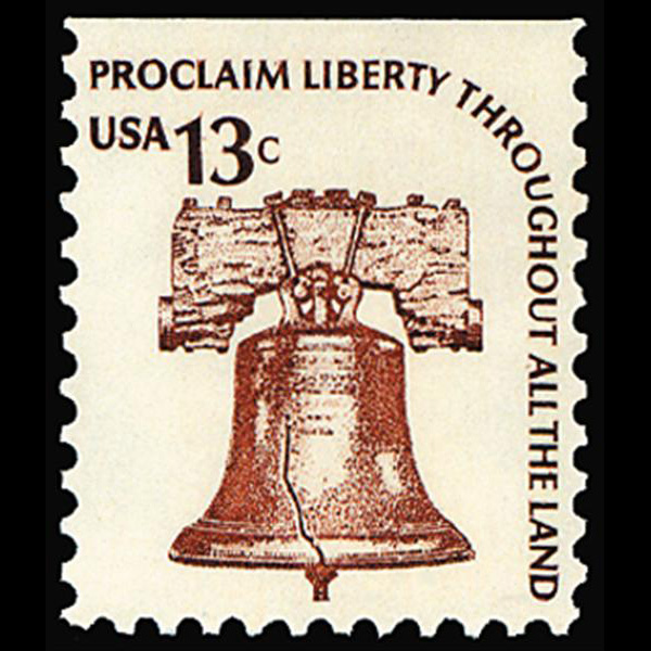 1975 13c Liberty Bell form bklt pane Mint