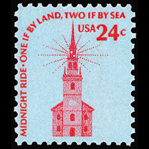 1975 24c Old North Church Mint Single