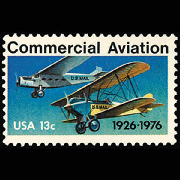 1976 13c Aviation Mint Single