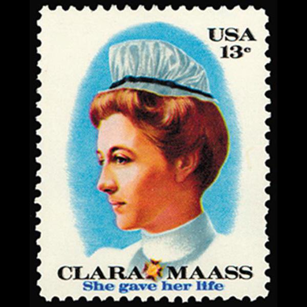 1976 13c Clara Maass Mint Single