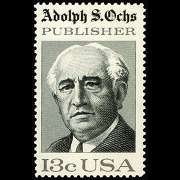 1976 13c Adolph S. Ochs Mint Single