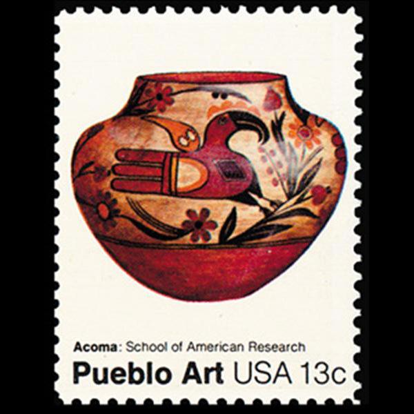 1977 13c Acoma Mint Single