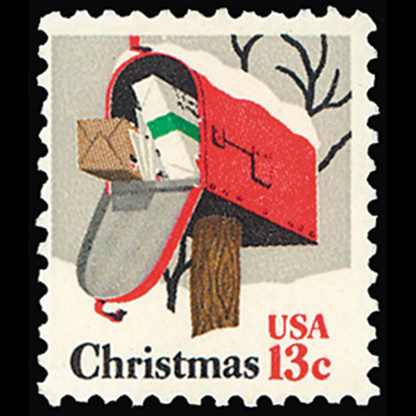 1977 13c Rural Mailbox Christmas Mint Single