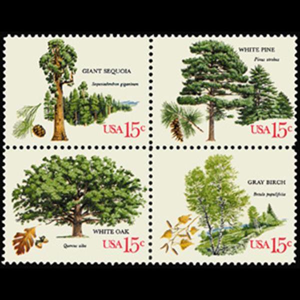 1978 15c Trees Mint Block