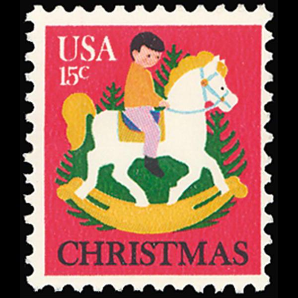 1978 15c Hobby Horse Christmas Mint Single