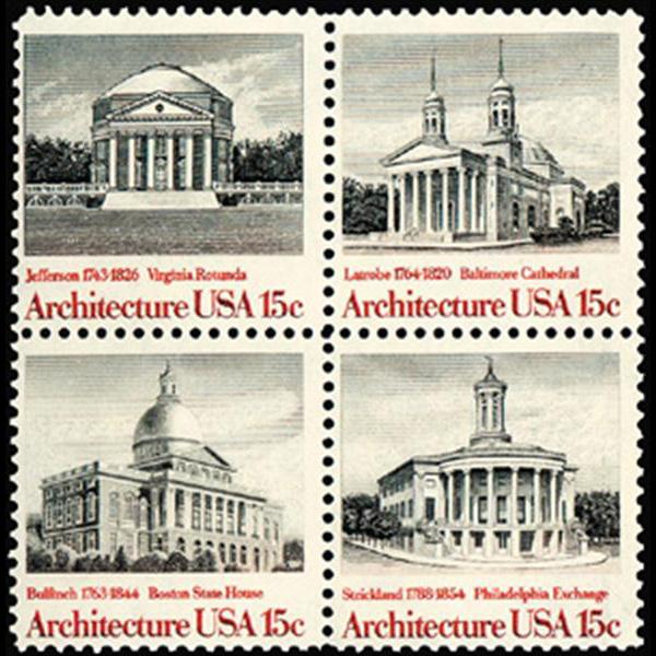 1979 15c American Architecture Mint Block