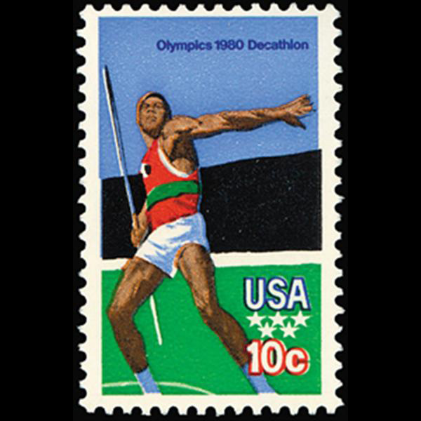1979 15c Summer Olympics Javelin Thrower Mint Single
