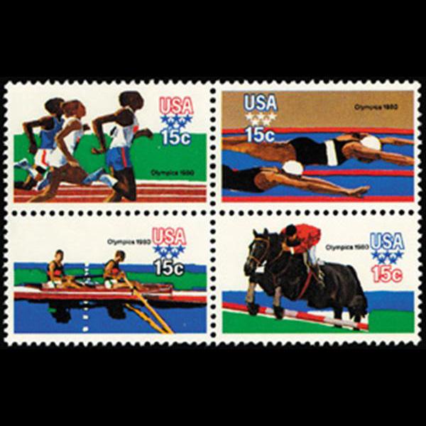 1979 15c Summer Olympics Mint Block