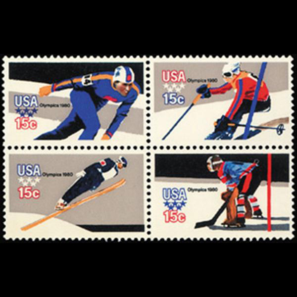 1979 15c Winter Olympics Mint Block