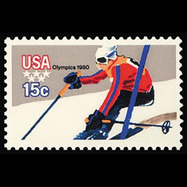 1979 15c Downhill Skier Mint Single