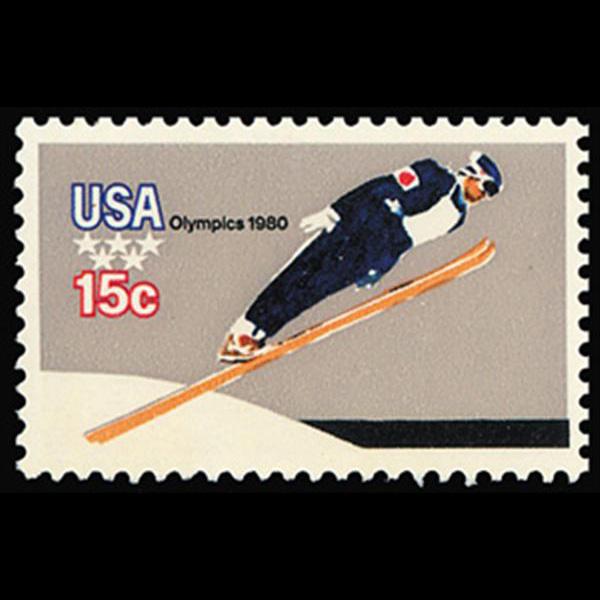 1979 15c Ski Jumper Mint Single