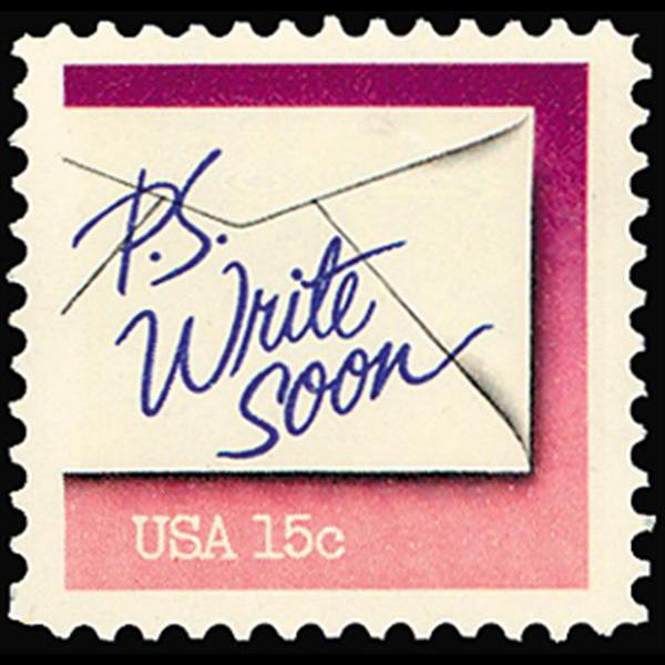 1980 15c Write Soon Mint Single