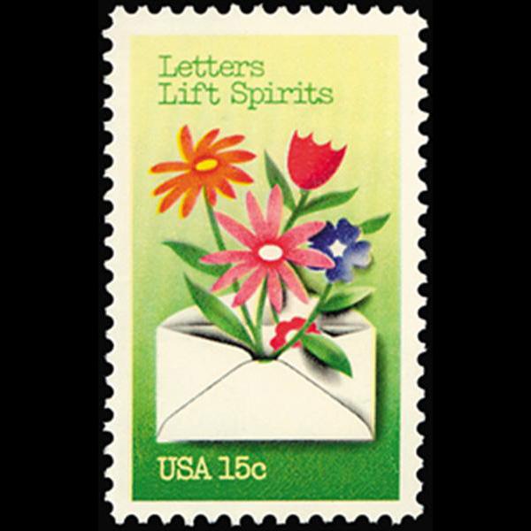 1980 15c Letters Lift Spirits Mint Single