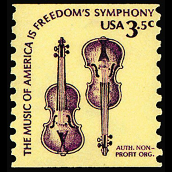 1980 3.5c Two Violins Mint Single