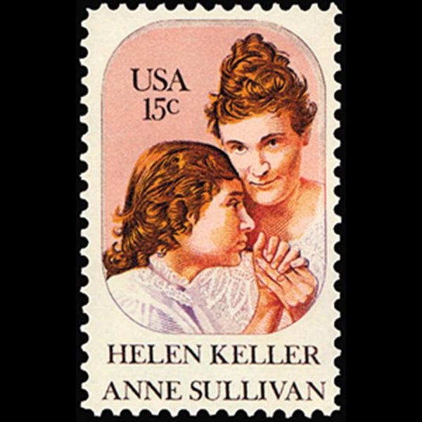 1980 15c Helen Keller & Anne Sullivan Mint Single