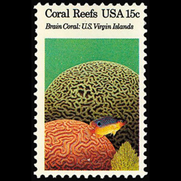 1980 15c Brian Coral, Virgin Island Mint Single