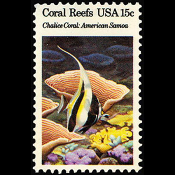 1980 15c Chalice Coral, American Samoa Mint Single