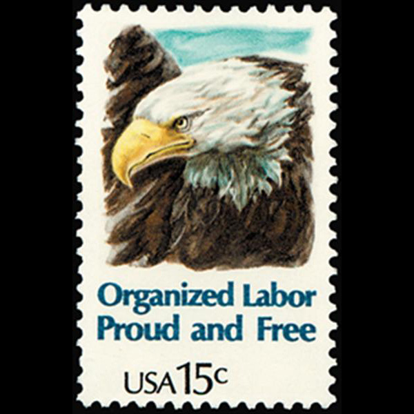 1980 15c Organized Labor Mint Single