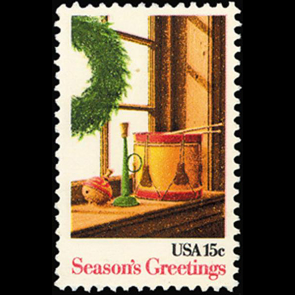 1980 15c Christmas Wreath & Toy Mint Single