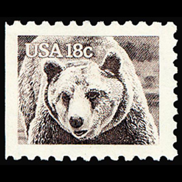 1981 18c Brown Bear Mint Single