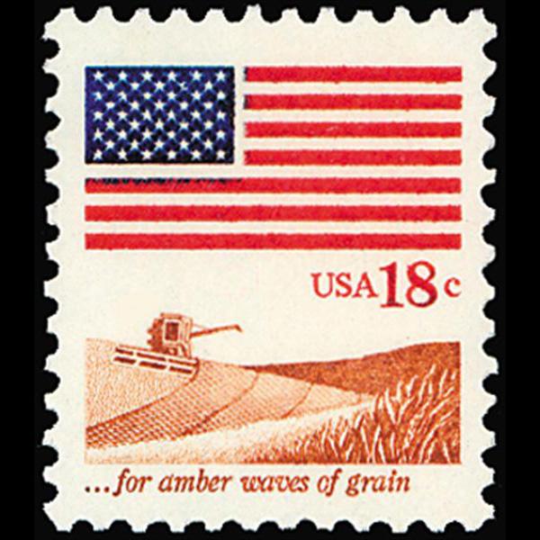 """1981 18c """"Waves of Grain"""" Mint Single"""