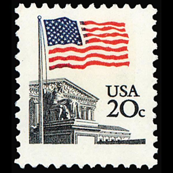 1981M 20c Flag & Supreme Court Mint Single