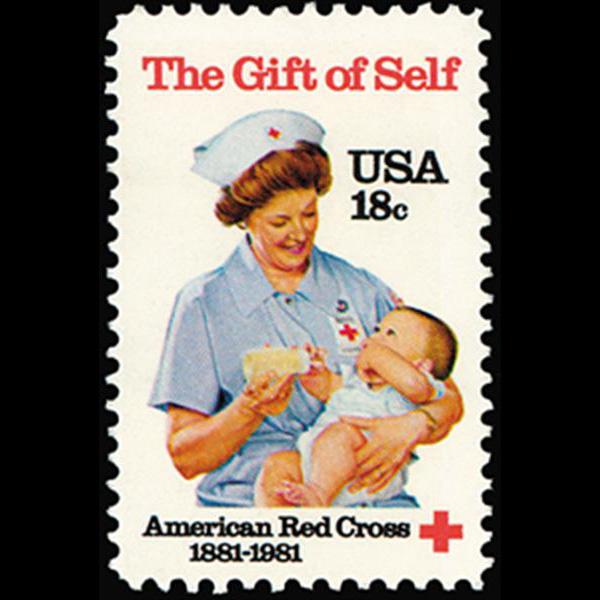 1981 18c American Red Cross Mint Single