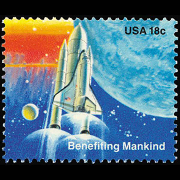 1981 18c Shuttle and Rockets Mint Single