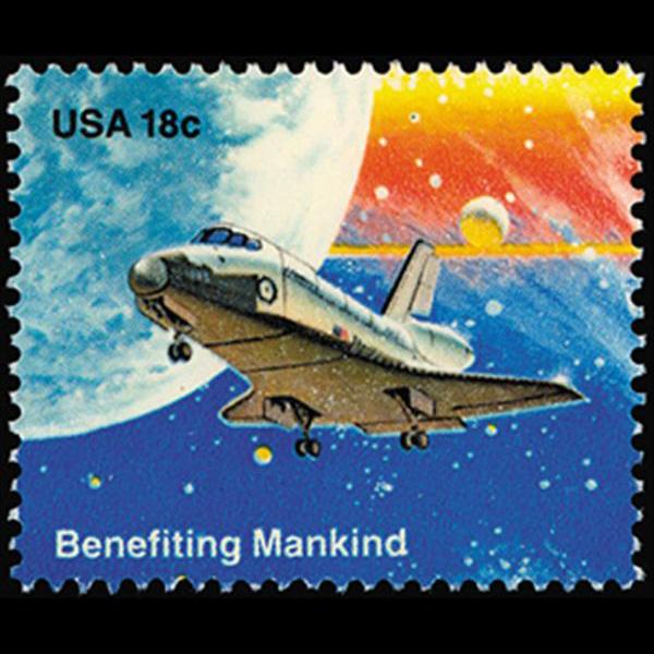 1981 18c Landing Mint Single