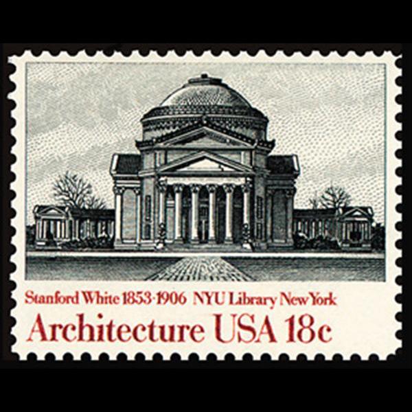 1981 18c New York Univ. Library Mint Single