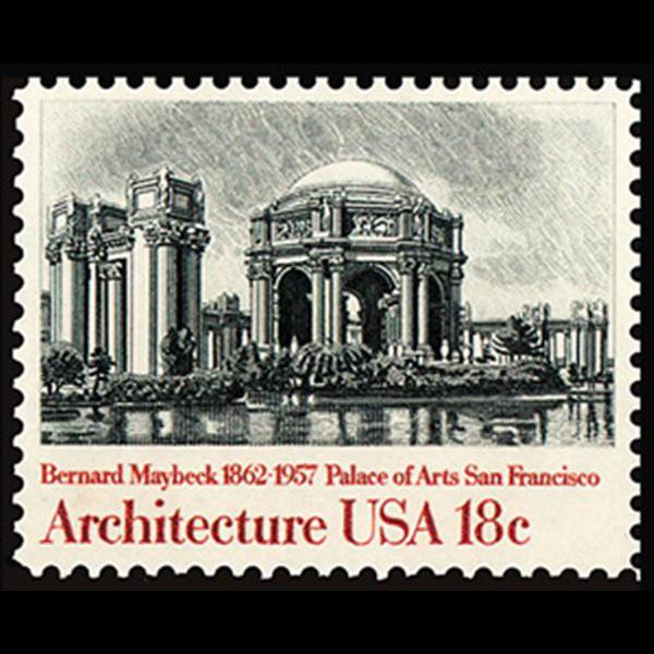 1981 18c Palace of Arts Mint Single