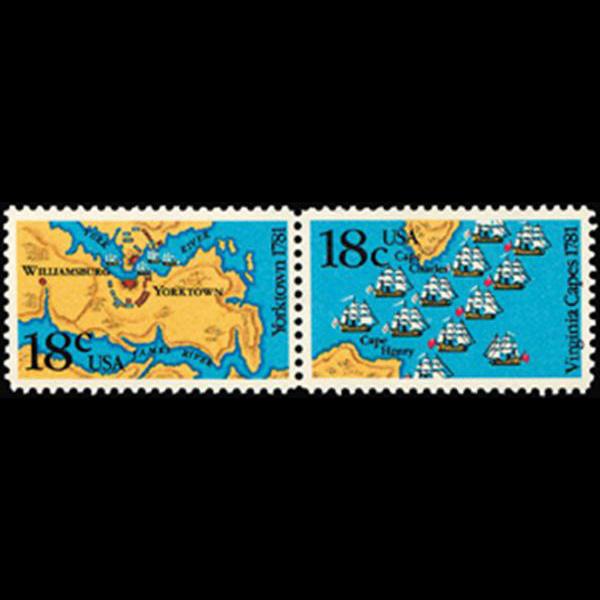 1981 18c Yorktown/Virginia Capes Mint Pair