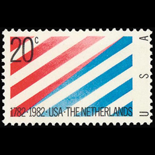 1982 20c USA/Netherlands Mint Single