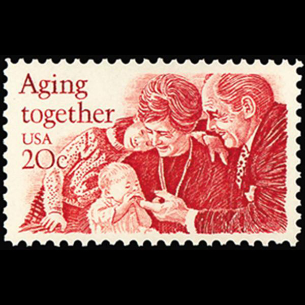 1982 20c Aging Together Mint Single