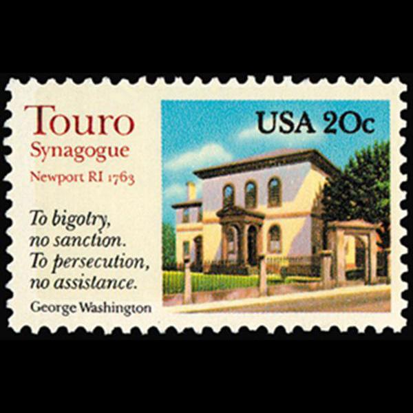 1982 20c Touro Synagogue Mint Single