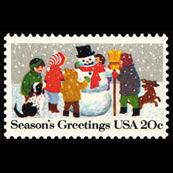 1982 20c Snowman Mint Single